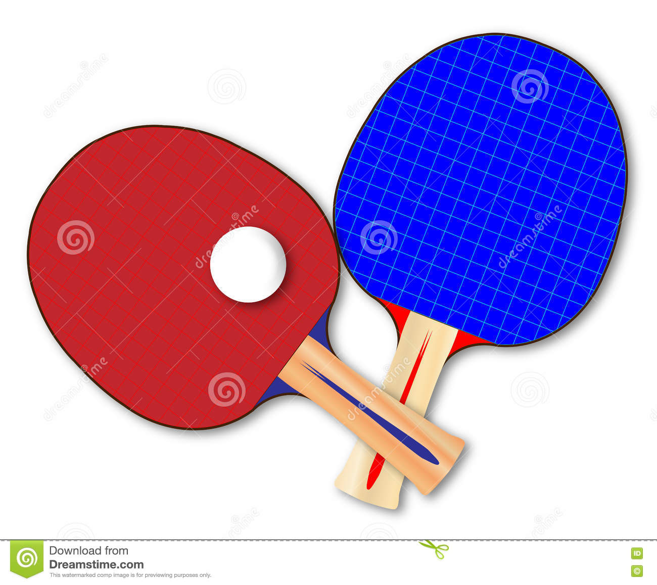 Pair Of Table Tennis Bats