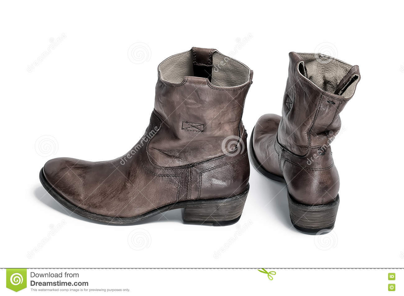 Pair Of Traditional Cowboy Boots Retro Tone Stock Photo - Image ...