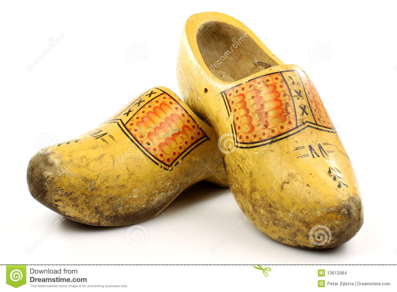 Windmill Design Wooden Shoes