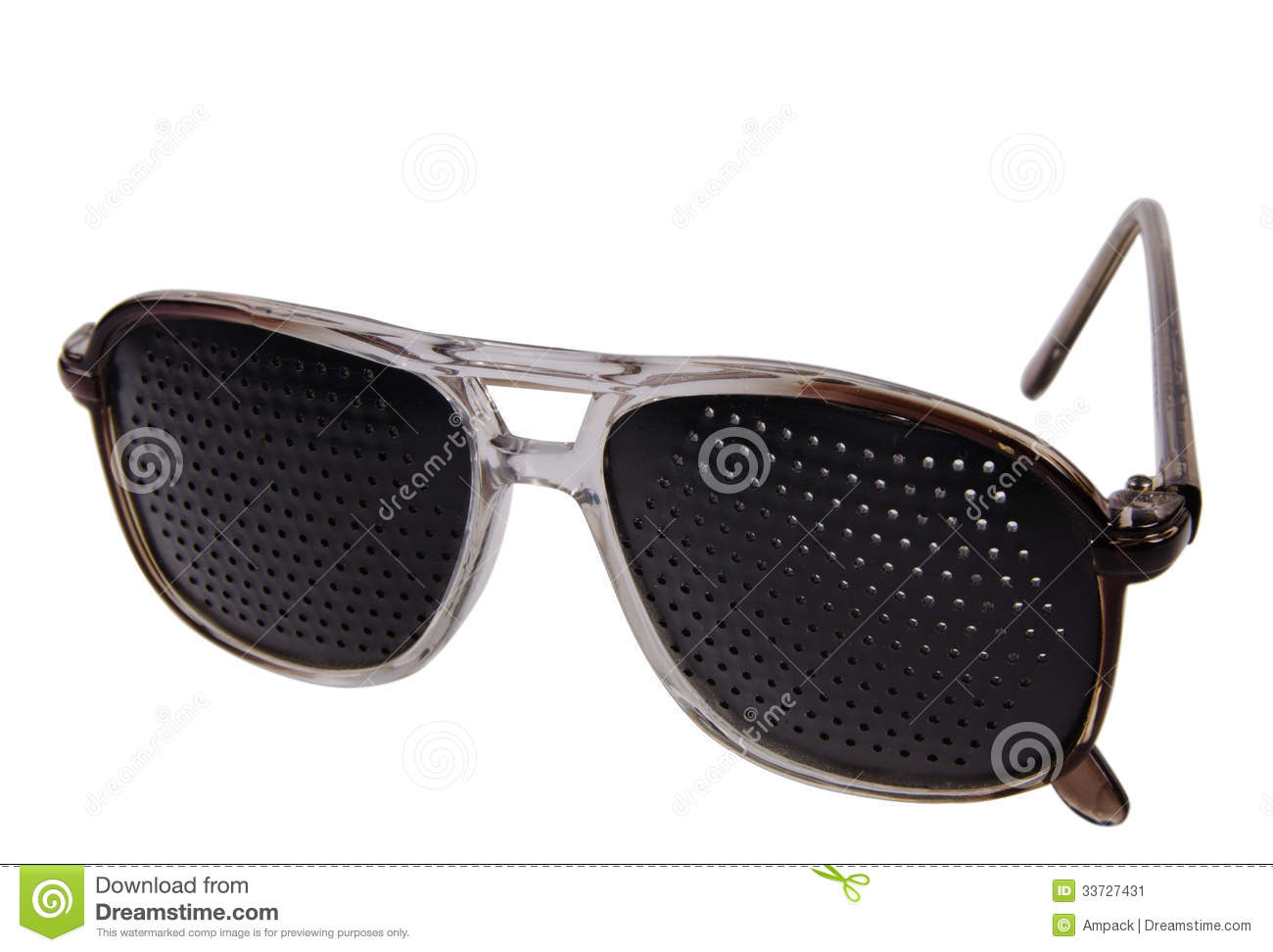 790273806989 Pair of stylish trendy modern dark glasses or shades with unusaul patterned  lenses with holes isolated on a white background