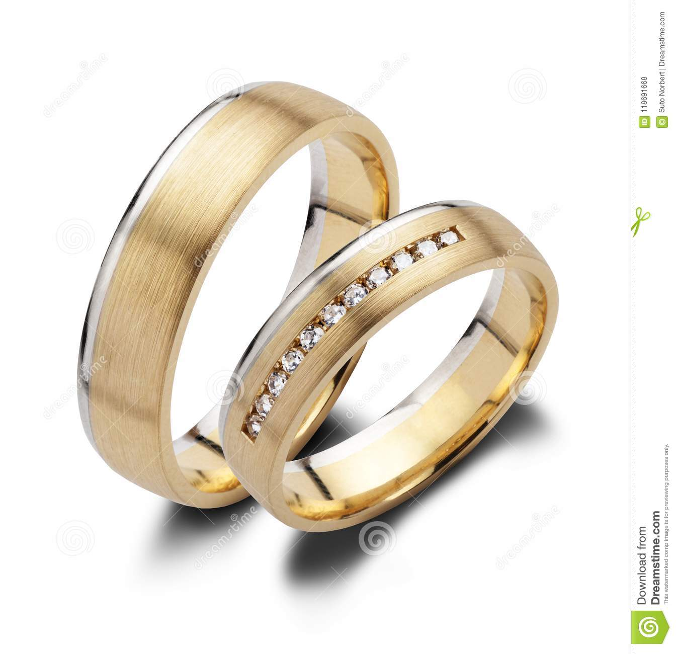 A pair of wedding rings