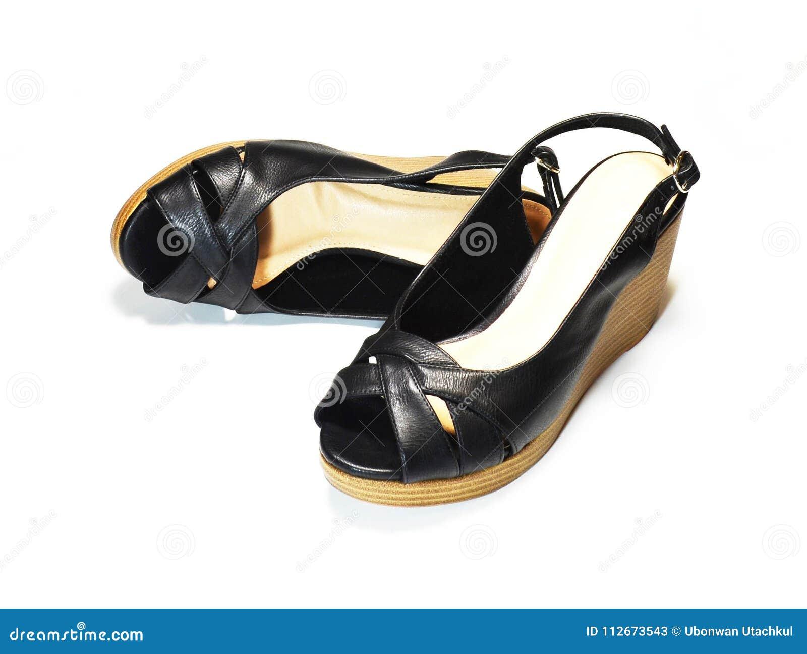 d6dd4e61214 Pair of elegant woman black high-heel shoes
