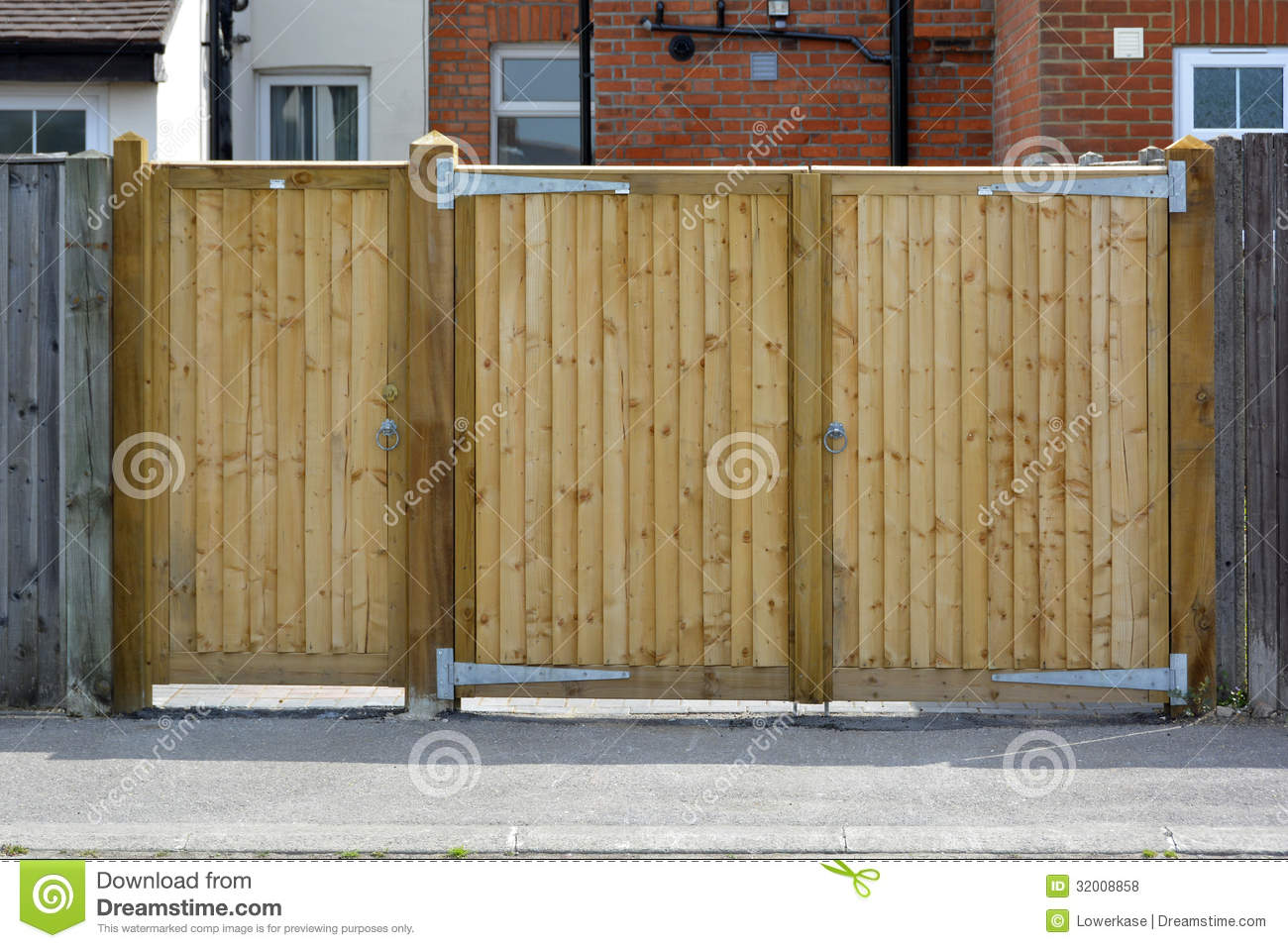 Pair Of Wooden Gates Stock Photo Image Of Closed High