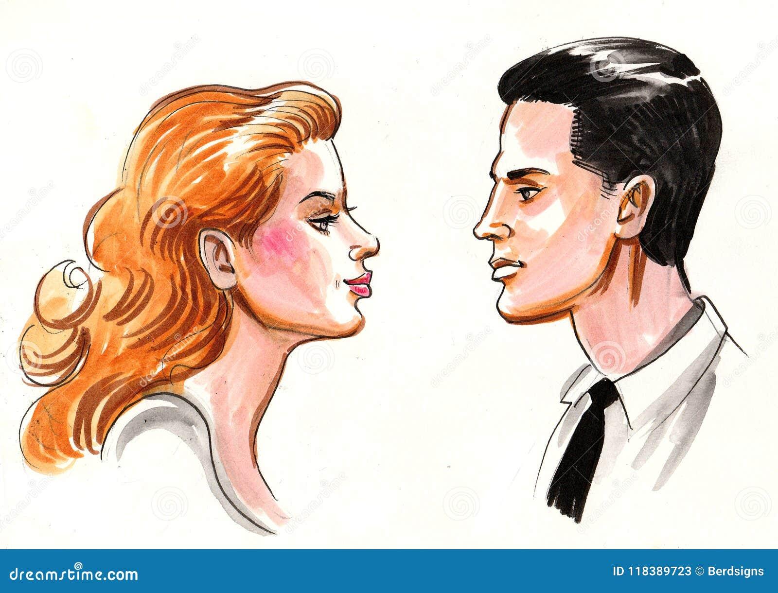 Paires Dans L Amour Illustration Stock Illustration Du Amour