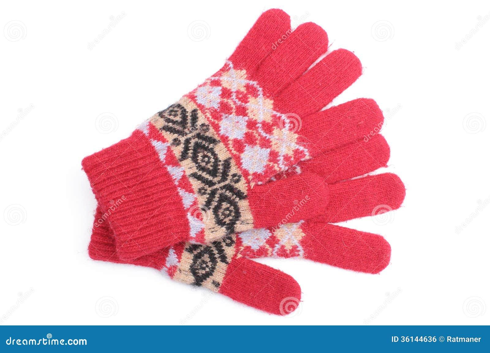 paires de gants de laine rouges sur le fond blanc photo stock image 36144636. Black Bedroom Furniture Sets. Home Design Ideas
