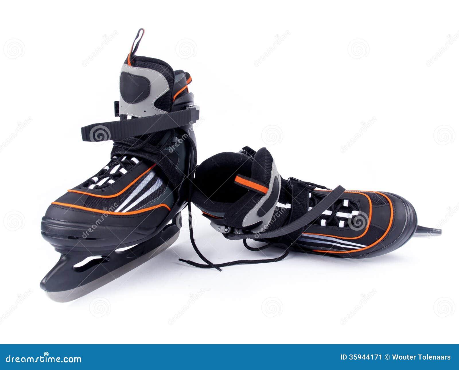 paires de patins de hockey sur glace de l 39 homme image. Black Bedroom Furniture Sets. Home Design Ideas