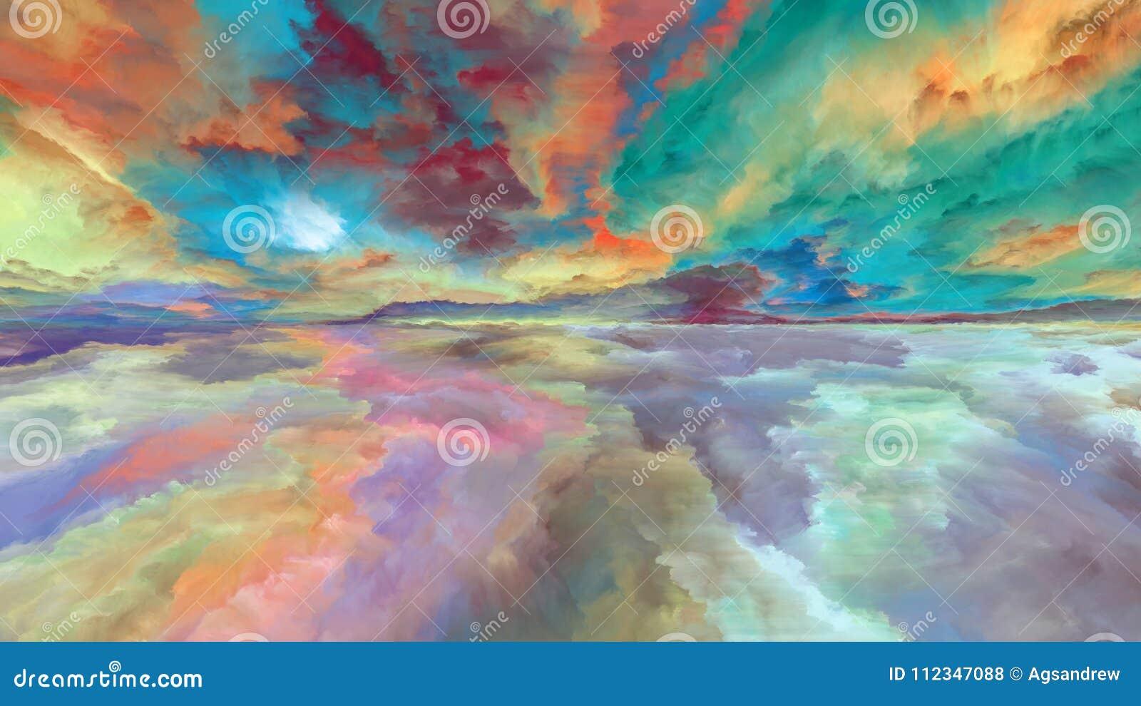 Paisagem abstrata da nuvem