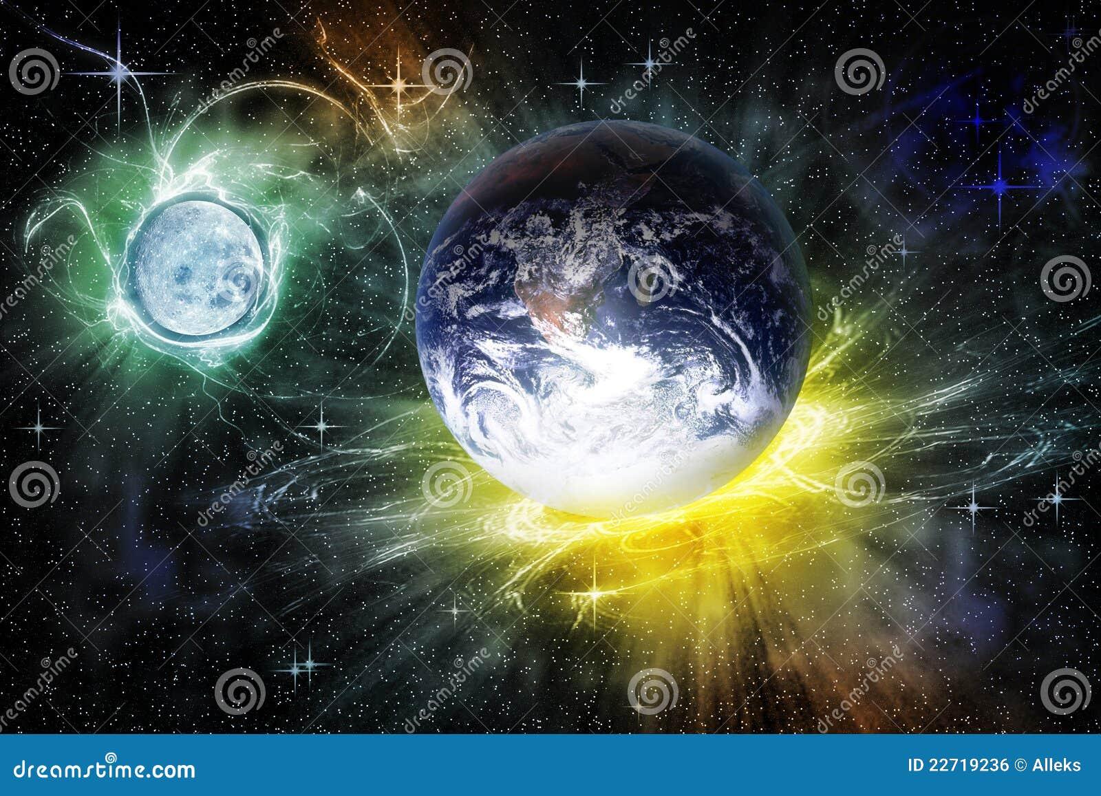 Ilustração Gratis Espaço Todos Os Universo Cosmos: Paisagem Abstrata Do Cosmos Ilustração Stock