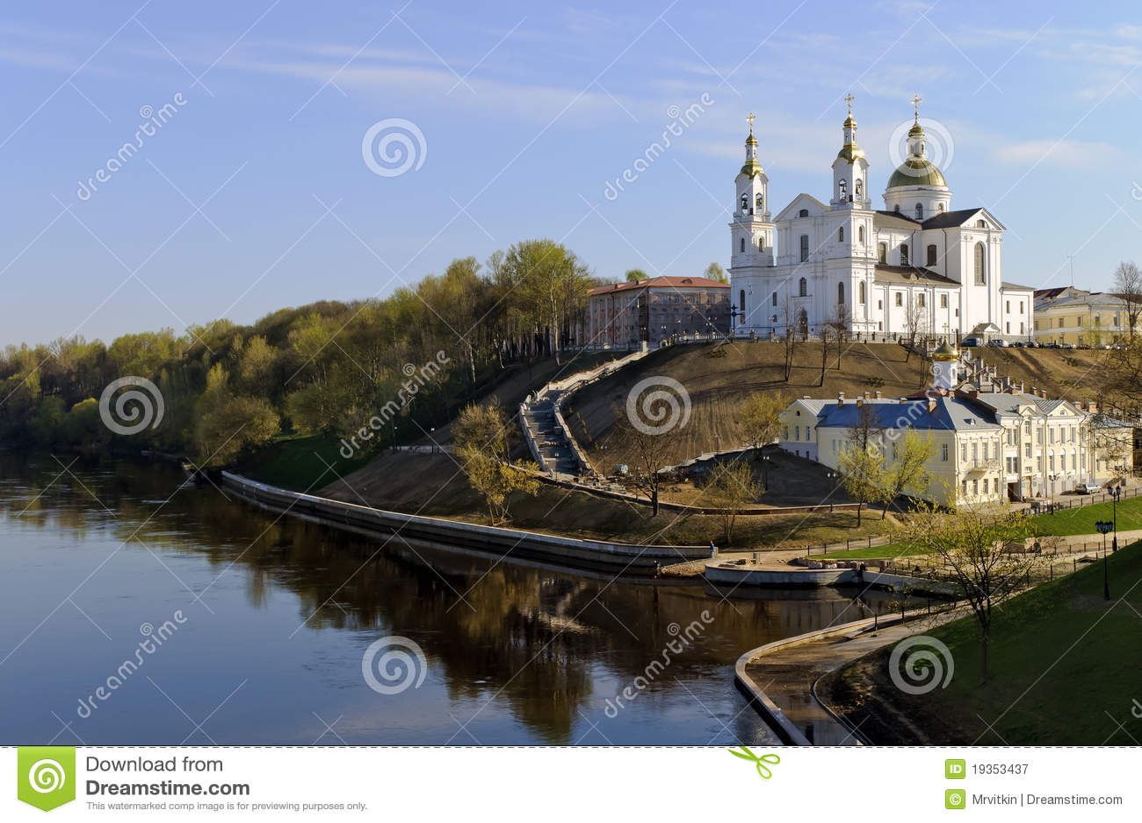 Paisagem agradável da mola de Belarus Vitebsk