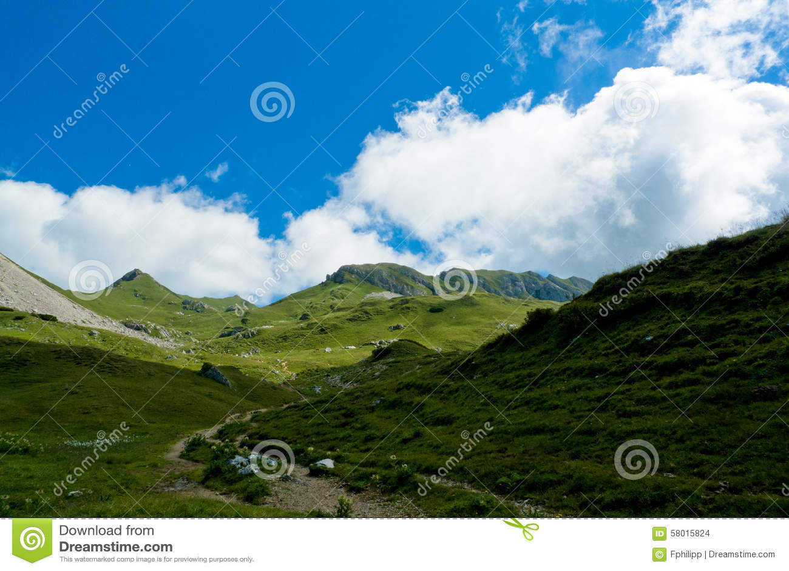 Paisagem alpina, cordilheira de Rofan, Áustria