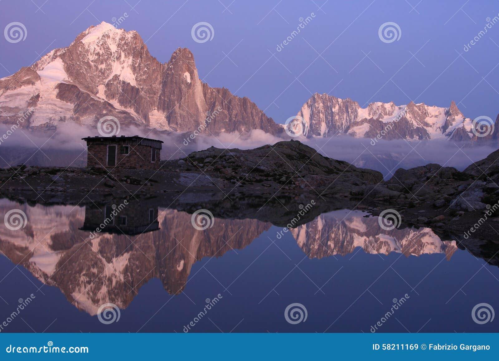 Paisagem alpina mágica