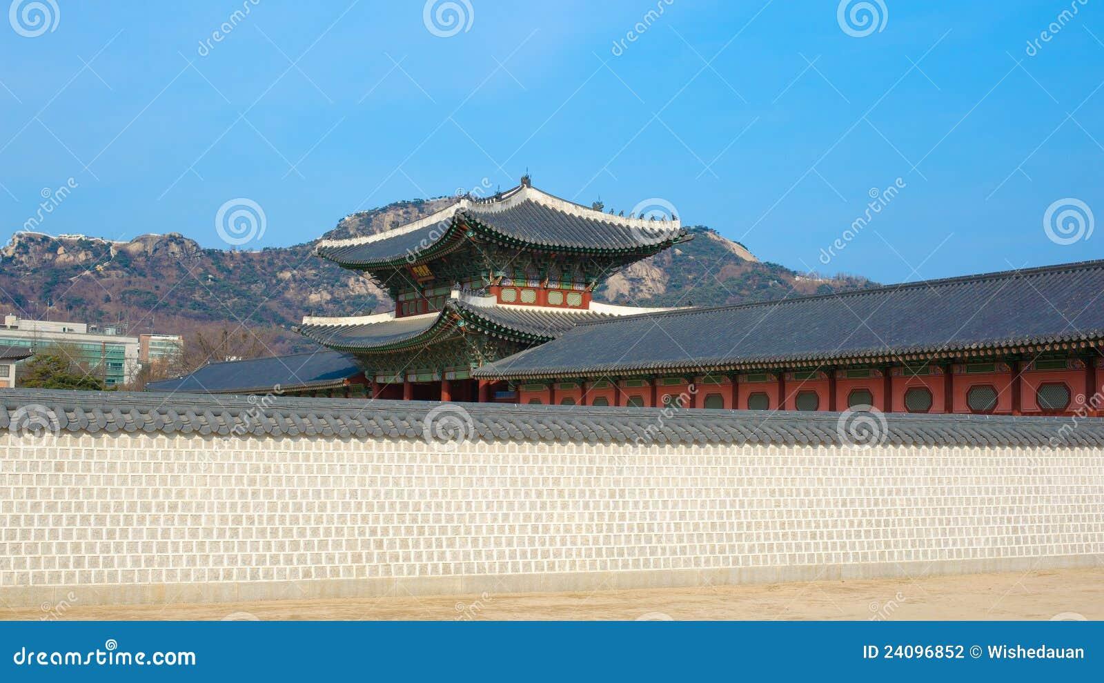 Paisagem bonita da História de Coreia do palácio de Kyongbok