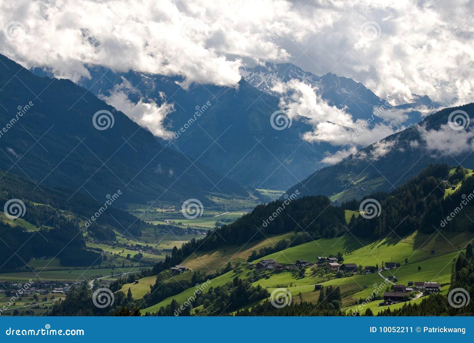 Paisagem cénico de Áustria