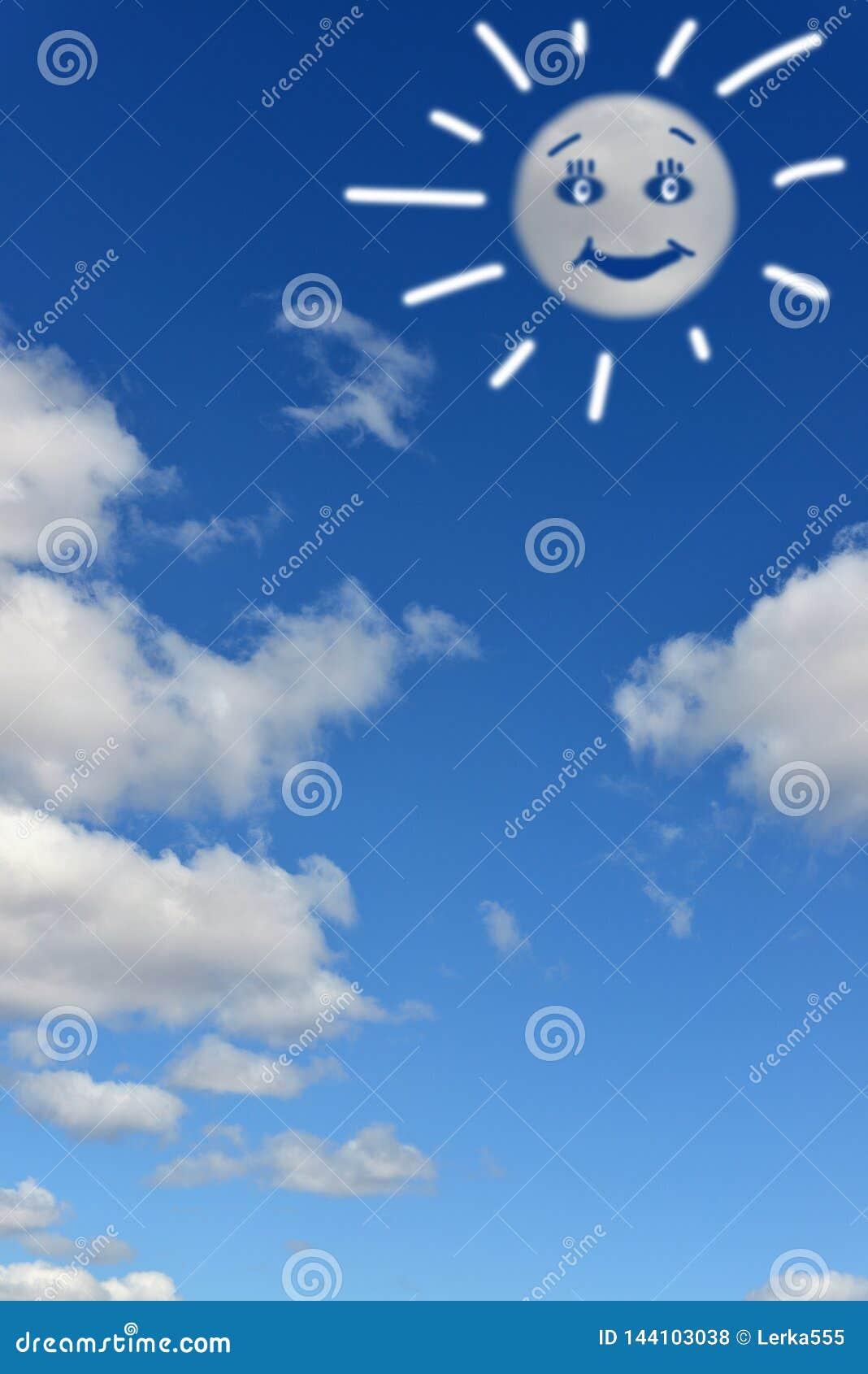 Paisagem celestial Nuvens que assemelham-se ao sol engraçado