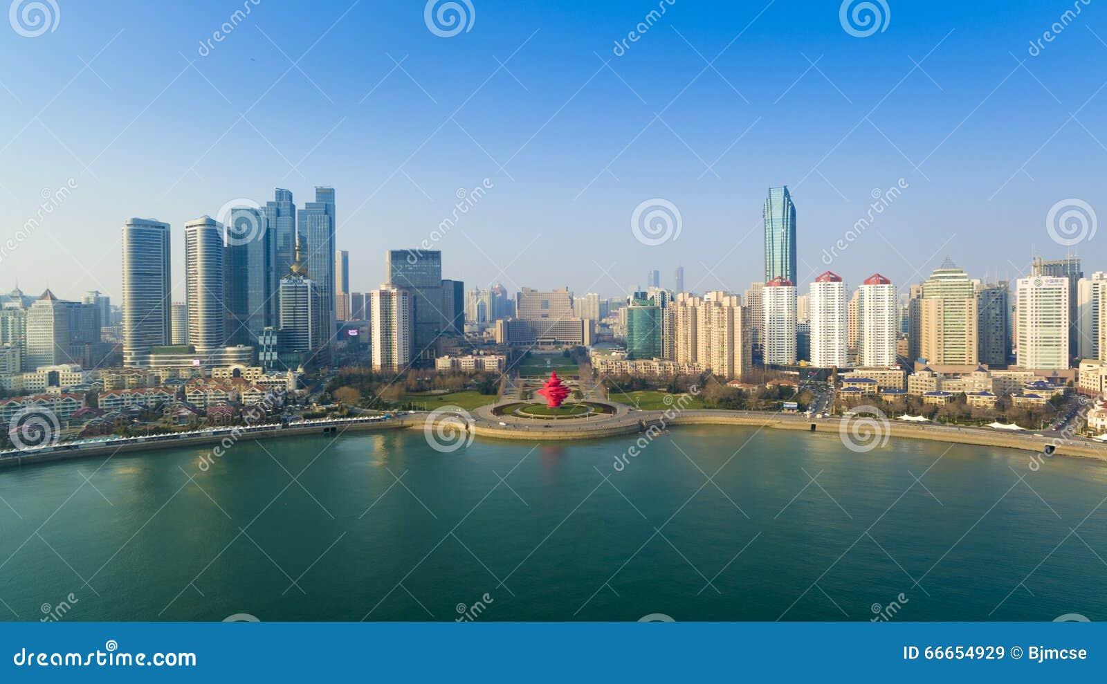 Paisagem China da costa de Qingdao