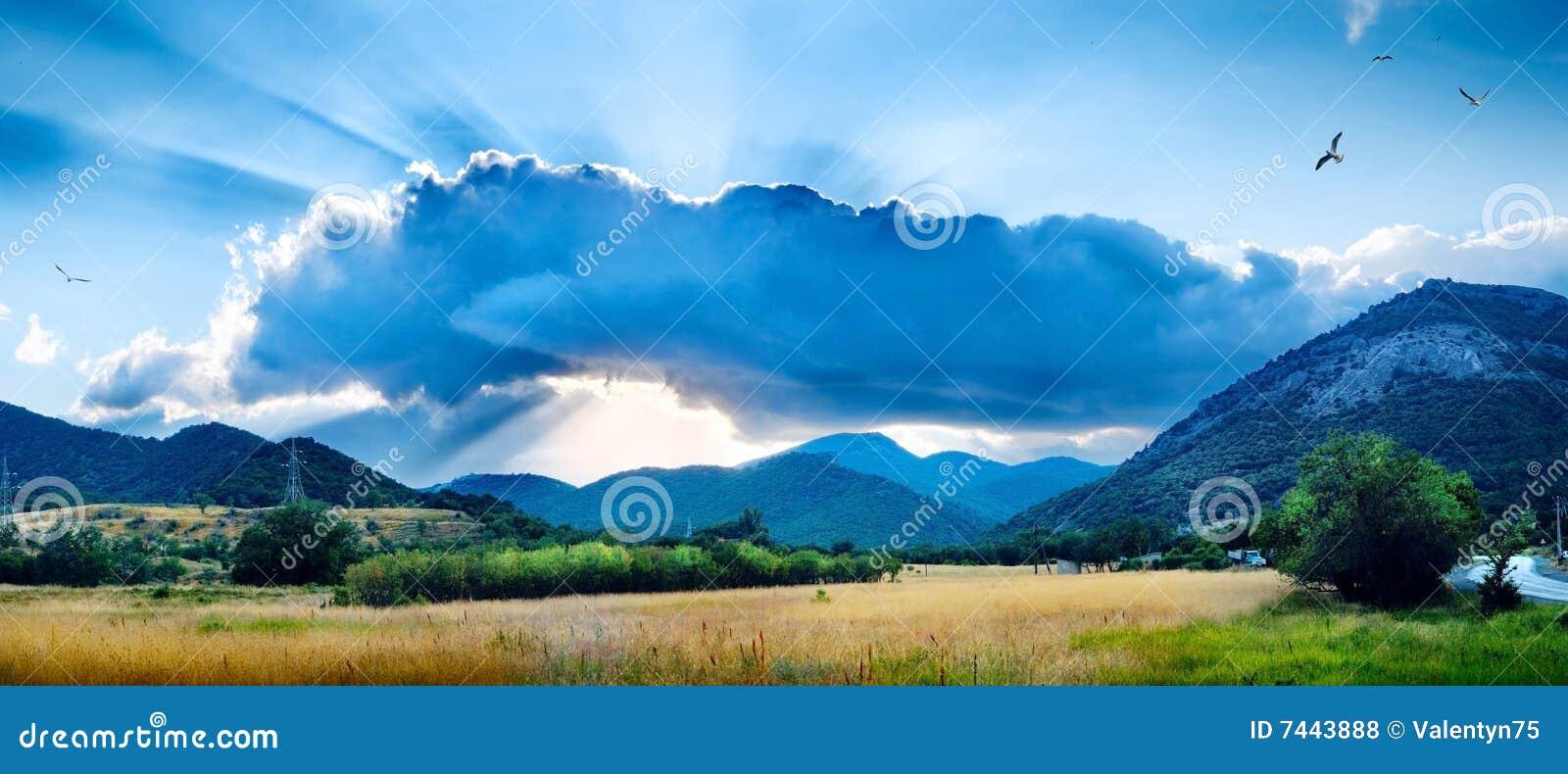 Paisagem com uma nuvem