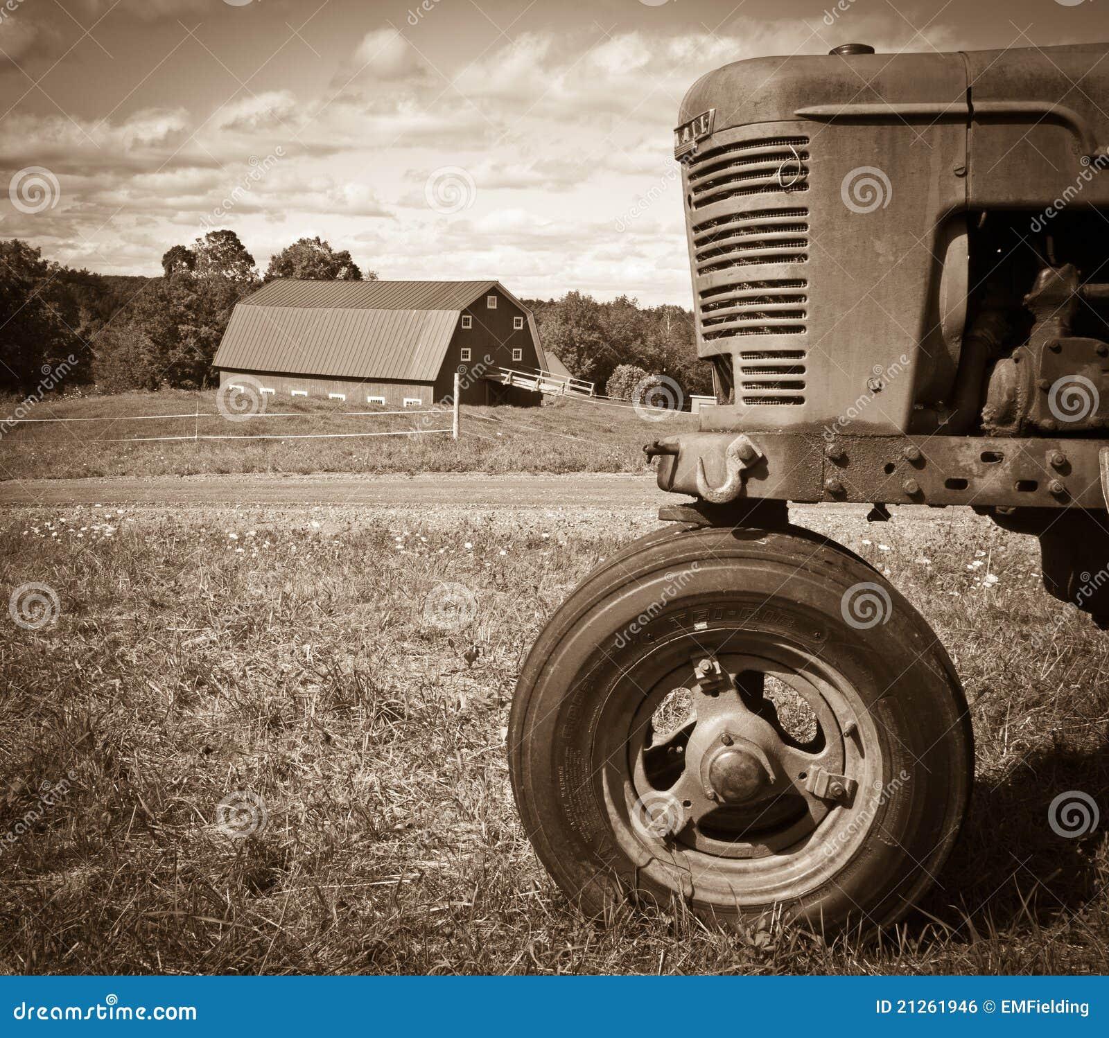 Paisagem da exploração agrícola do vintage