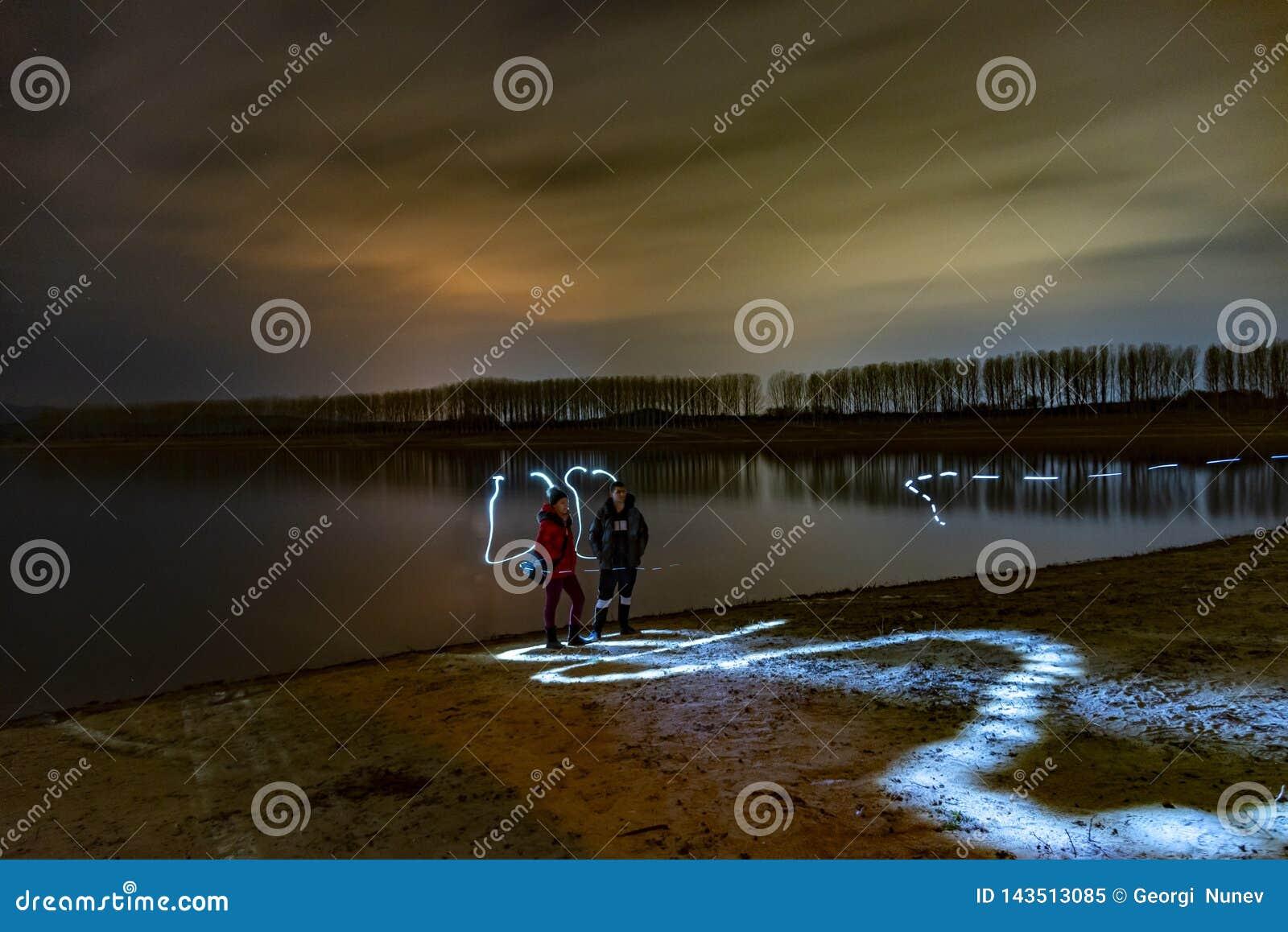 Paisagem da noite de Bulgária