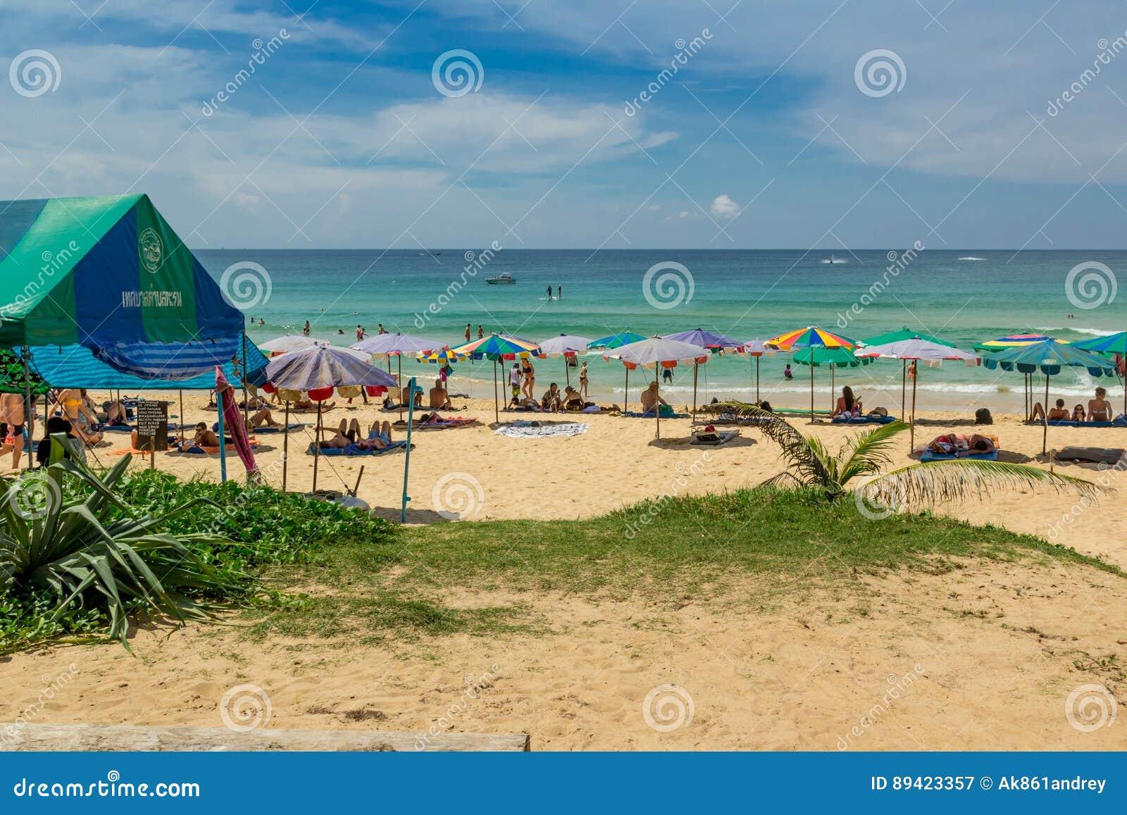 Paisagem da praia em Phuket