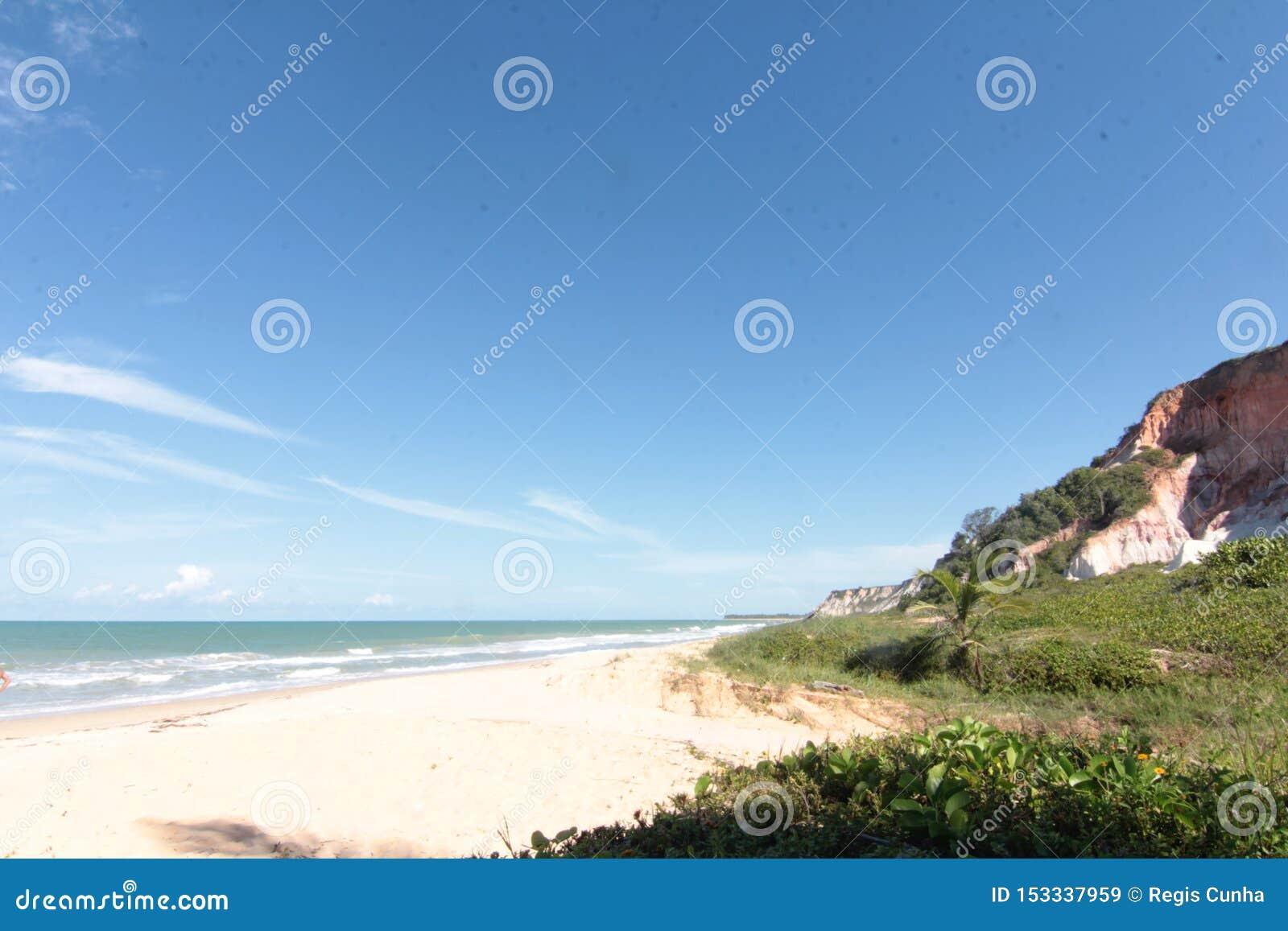 Paisagem da praia tropical da ilha do para?so, tiro do nascer do sol