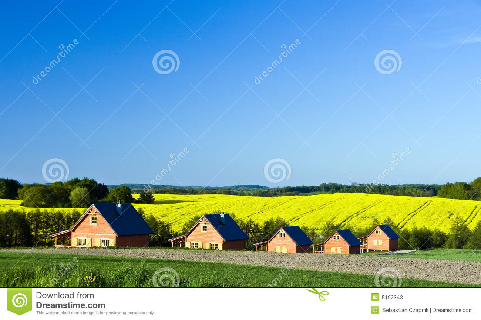 Paisagem das casas de campo