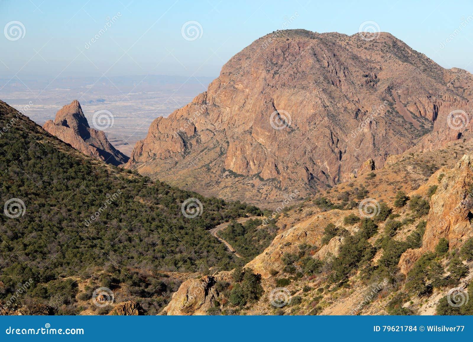 Paisagem das montanhas de Chisos