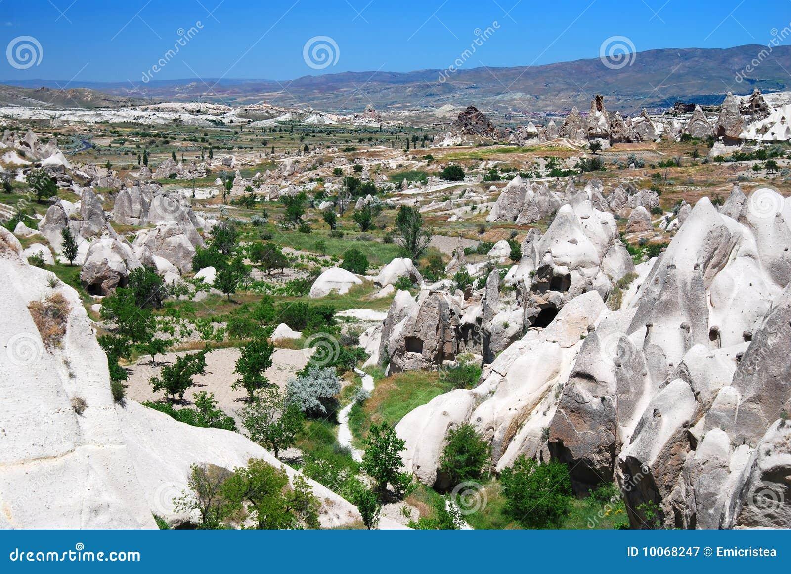Paisagem de Cappadocia em Turquia