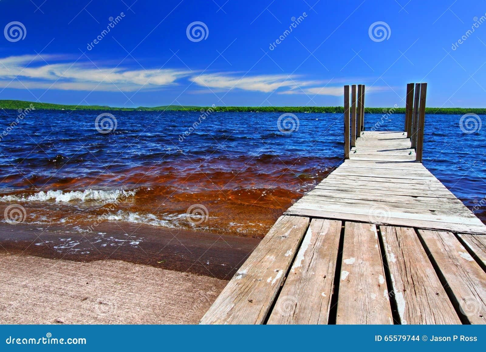 Paisagem de Gogebic do lago