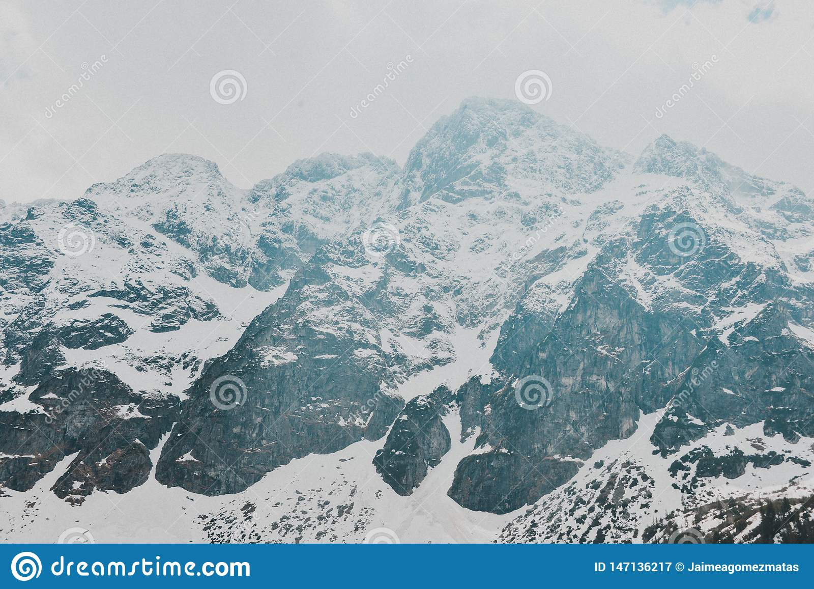 Paisagem de Zakopane das montanhas de Tatry