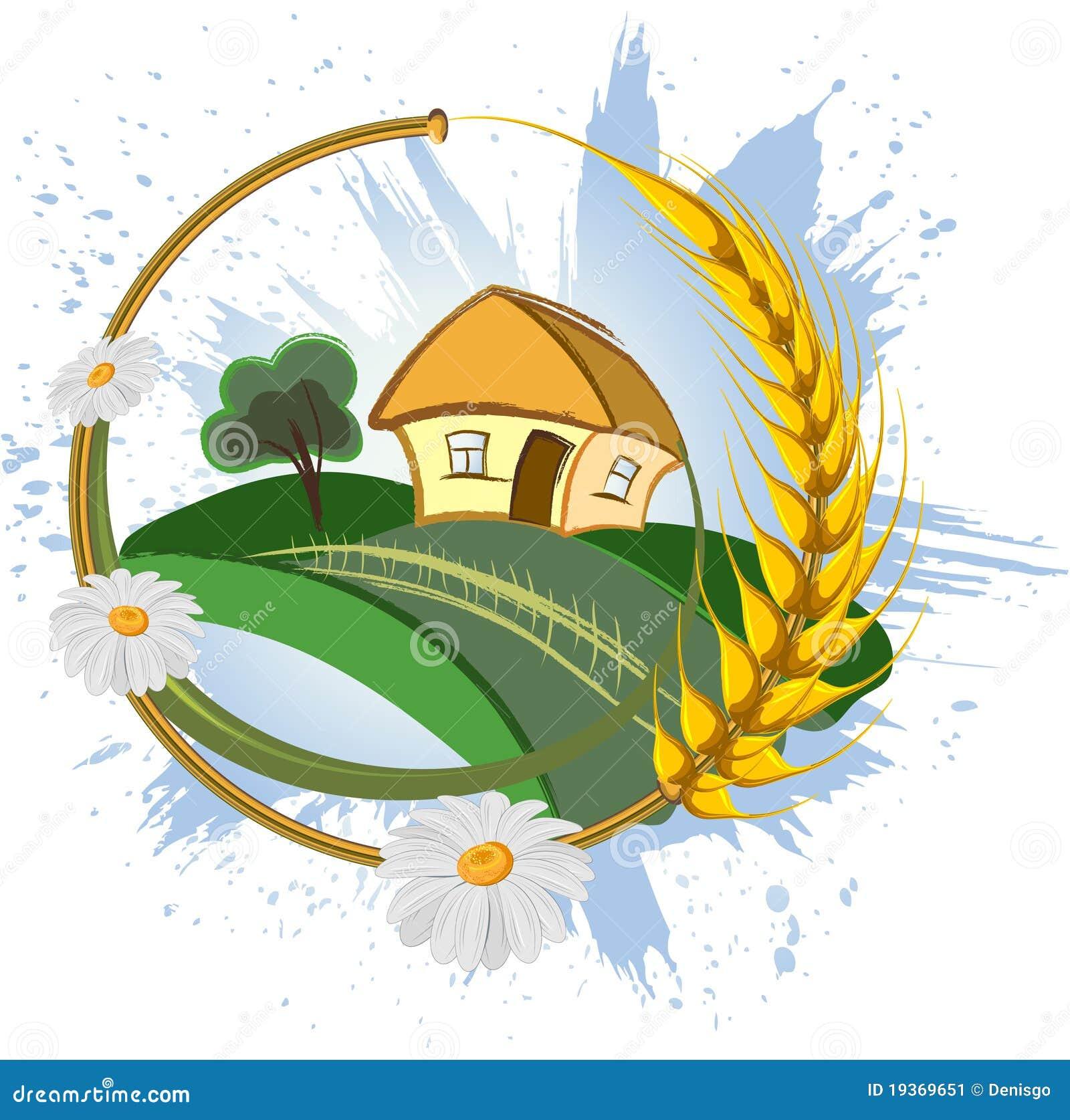 Paisagem decorativa da exploração agrícola