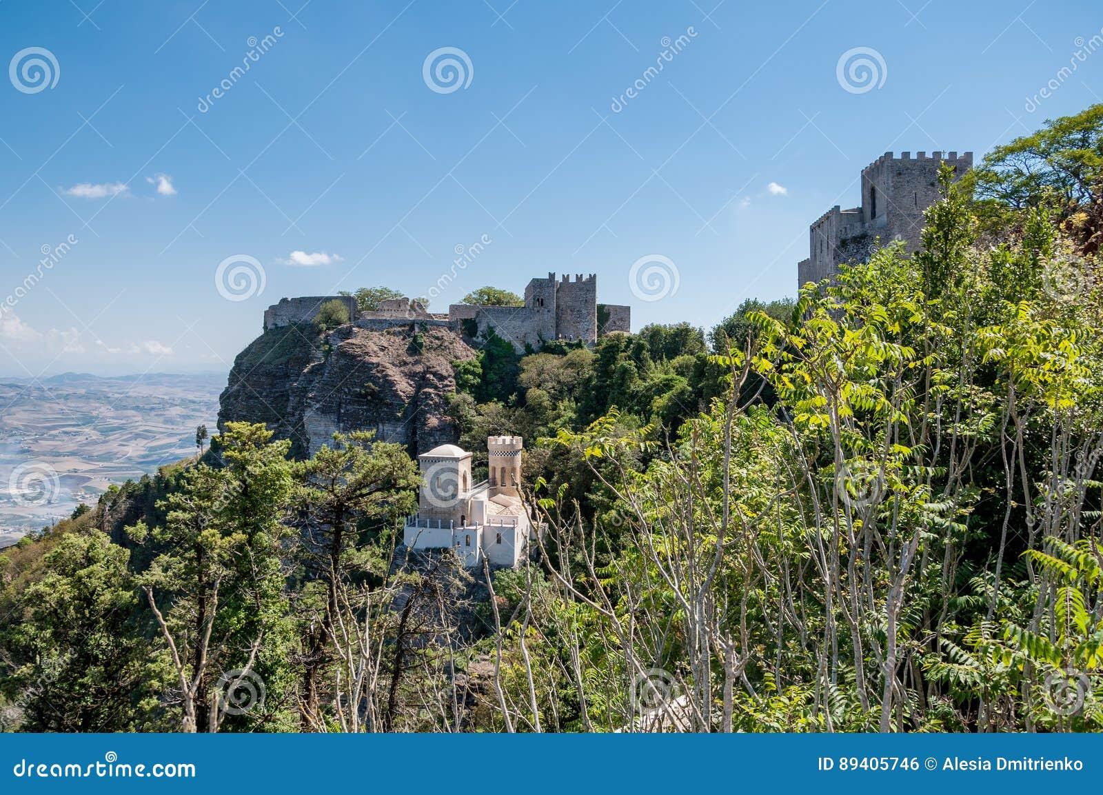Paisagem do Erice, Sicília, Itália