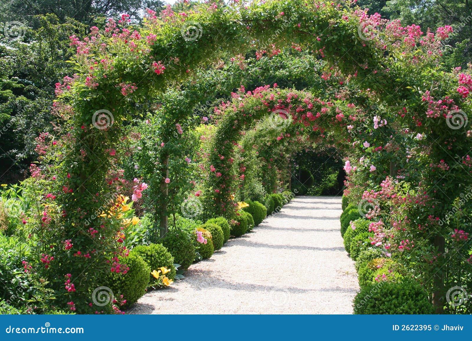 flores para jardim verao : flores para jardim verao:Paisagem Do Jardim De Rosas Foto de Stock Royalty Free – Imagem