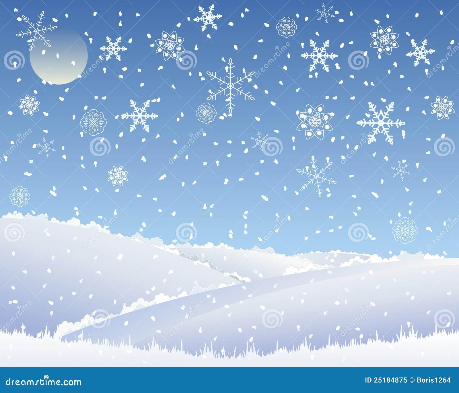 Paisagem Do Natal Ilustração Do Vetor. Ilustração De Rural