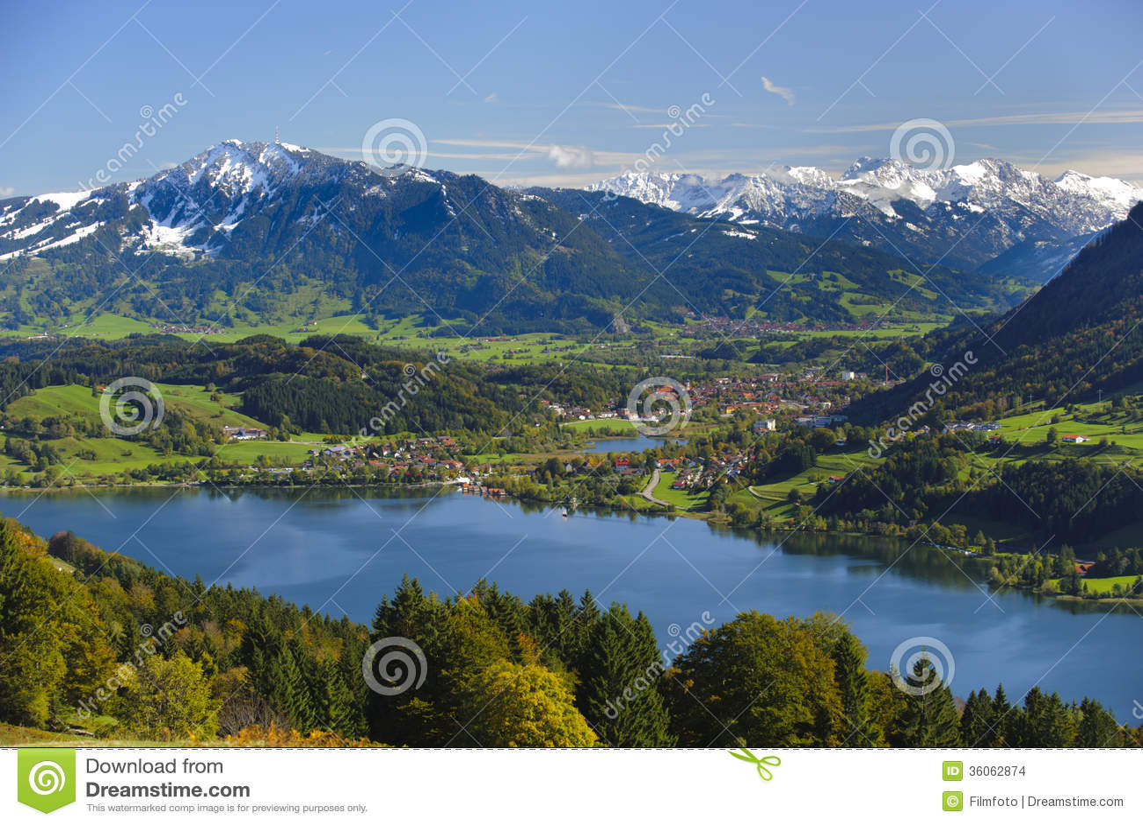 Paisagem do panorama em Baviera