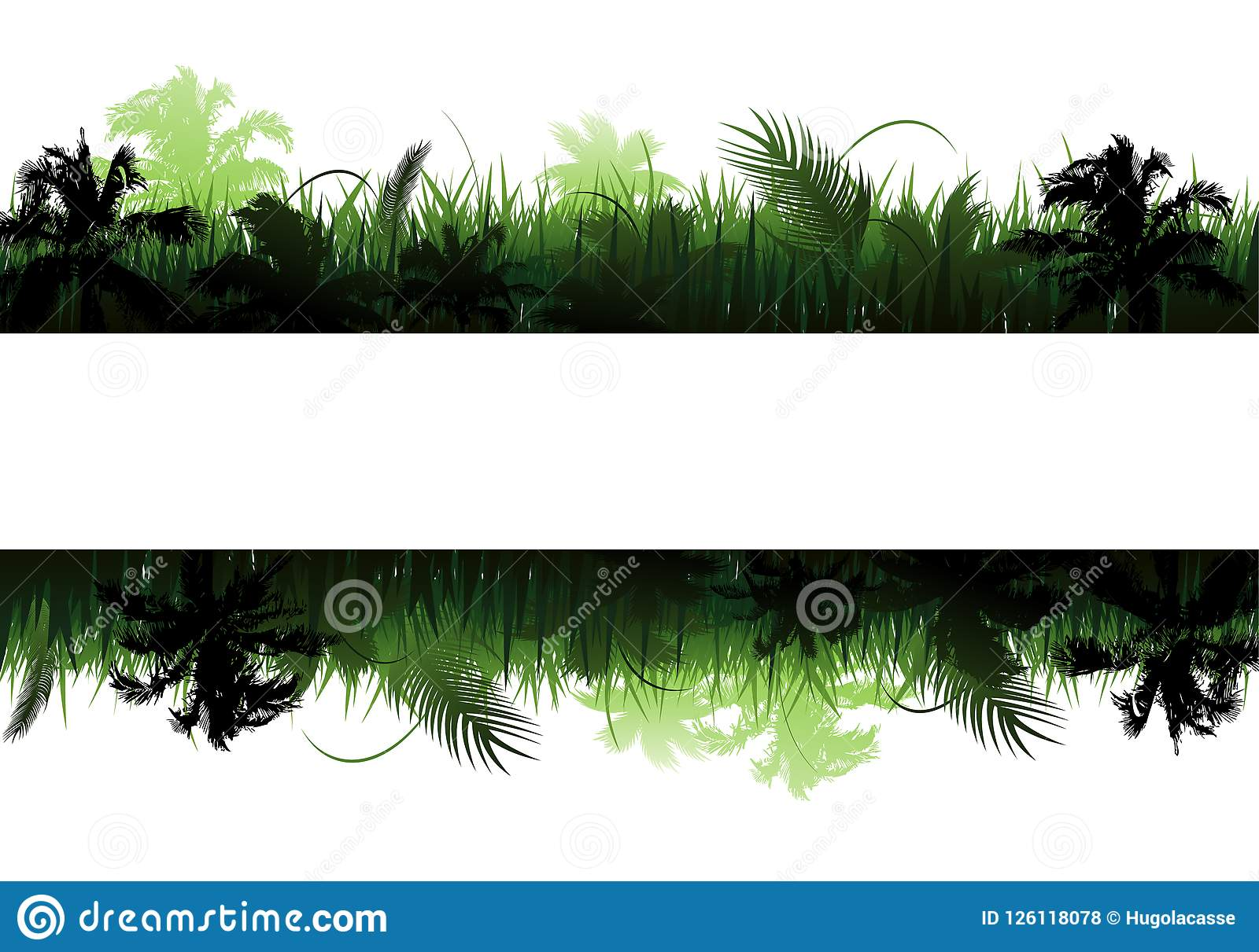 Paisagem do vetor da selva