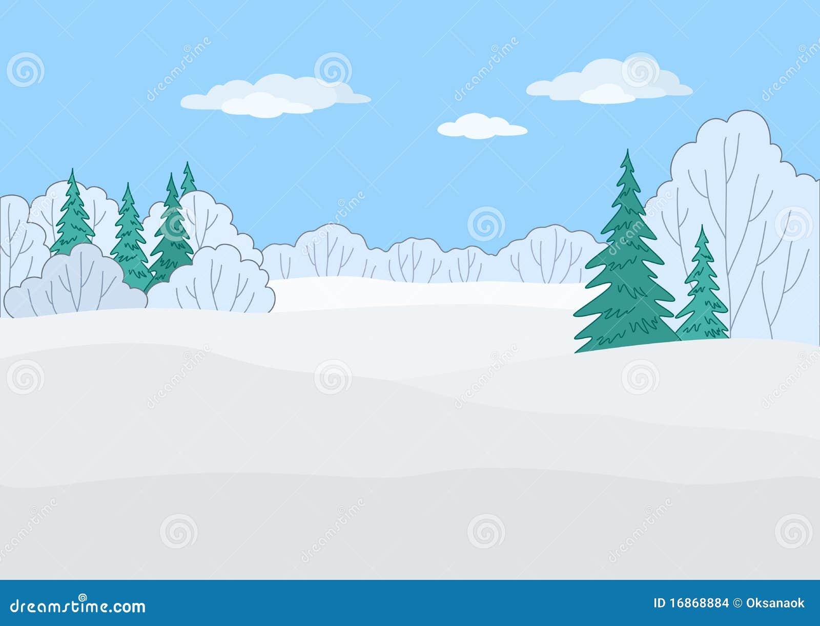 Paisagem, floresta do inverno
