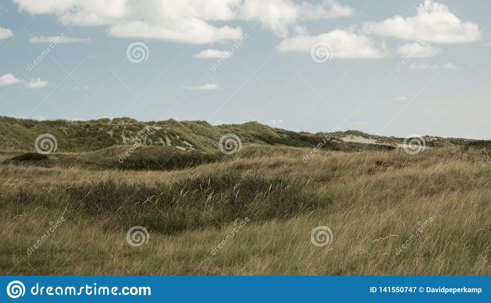 Paisagem, nuvens, dunas, Ameland Holanda de wadden, ilha os Países Baixos