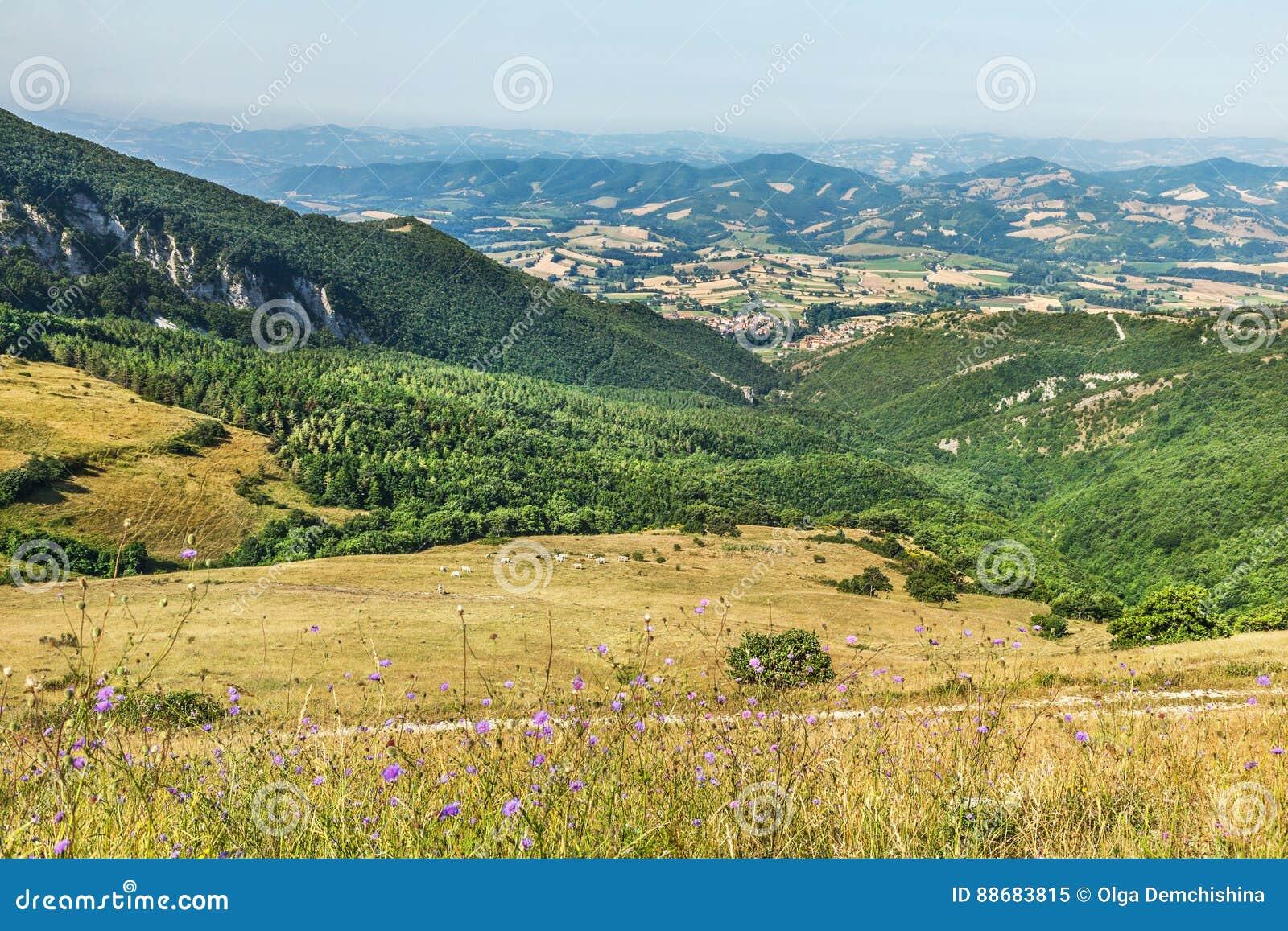 Paisagem perto de Fabriano Italy