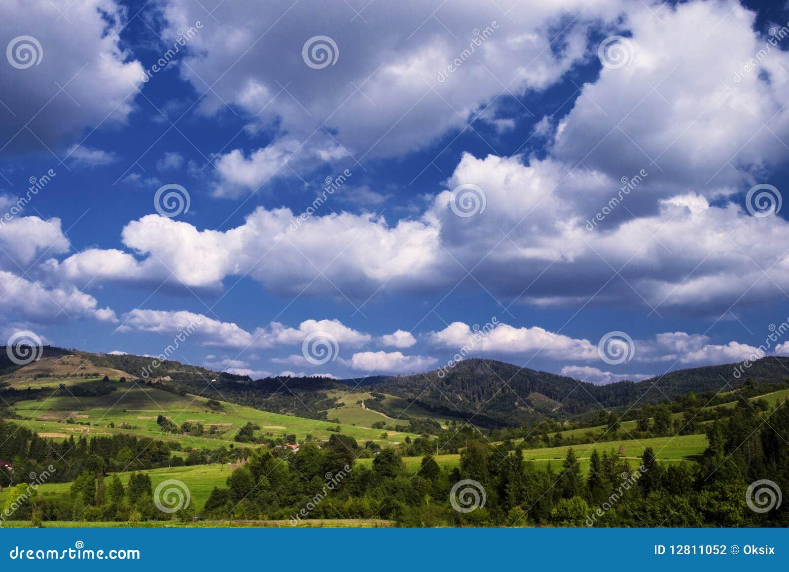 Paisagem rural das montanhas