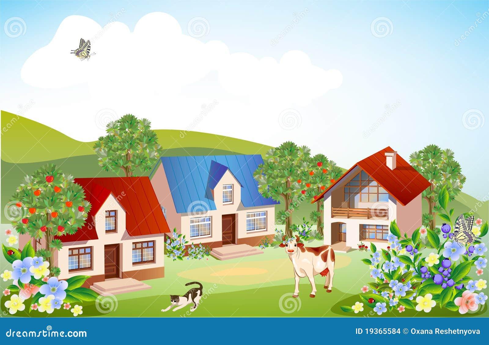 Paisagem rural do verão