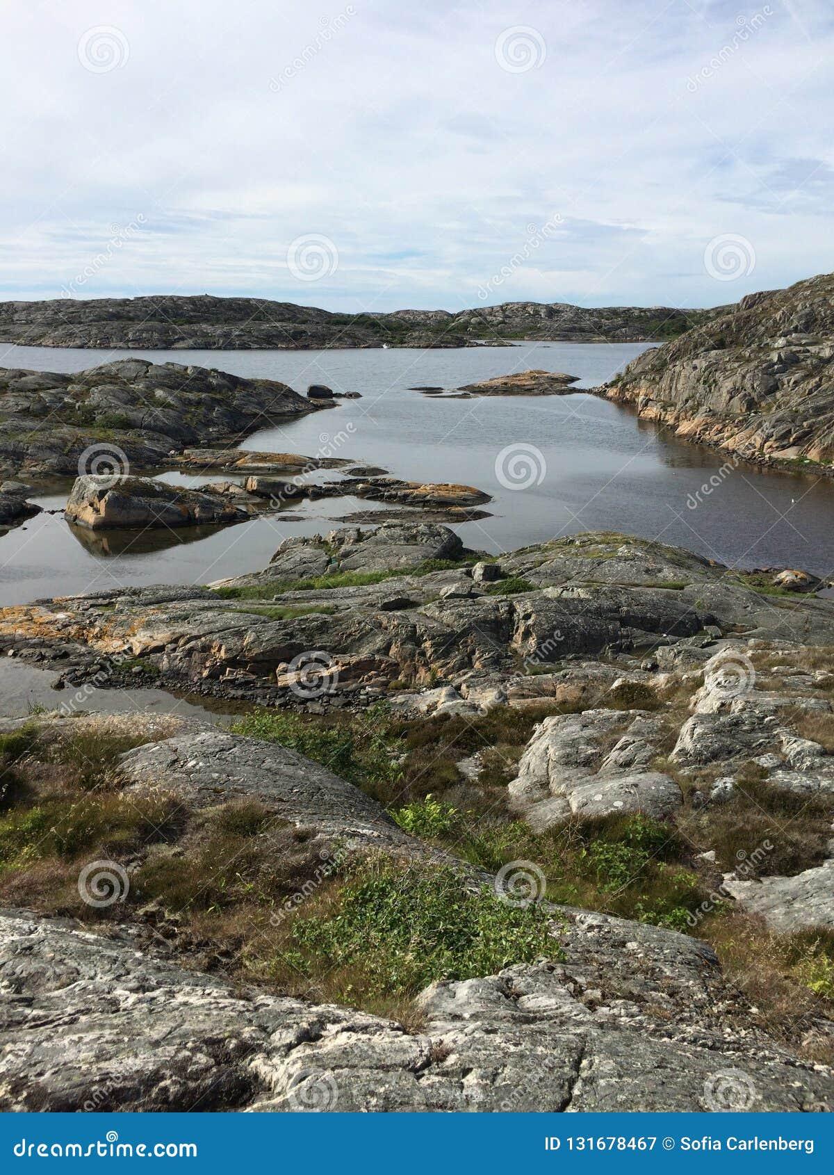 Paisagem sueco da costa oeste