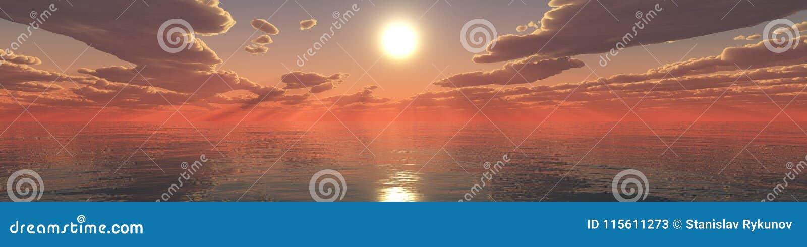 Paisagem tropical, praia com as palmeiras no por do sol