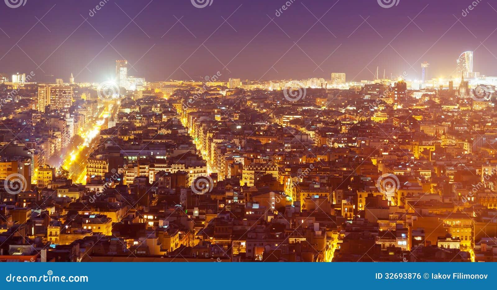 Paisagem urbana da noite