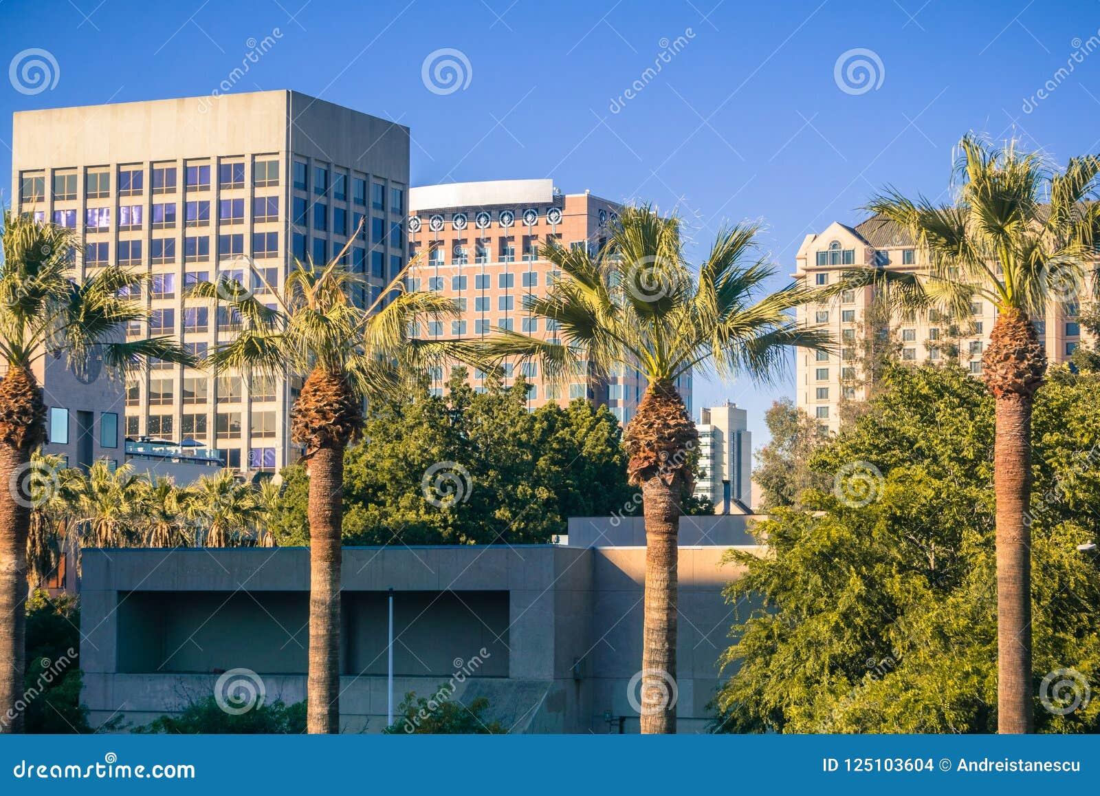 Paisagem urbana em San Jose do centro, Califórnia