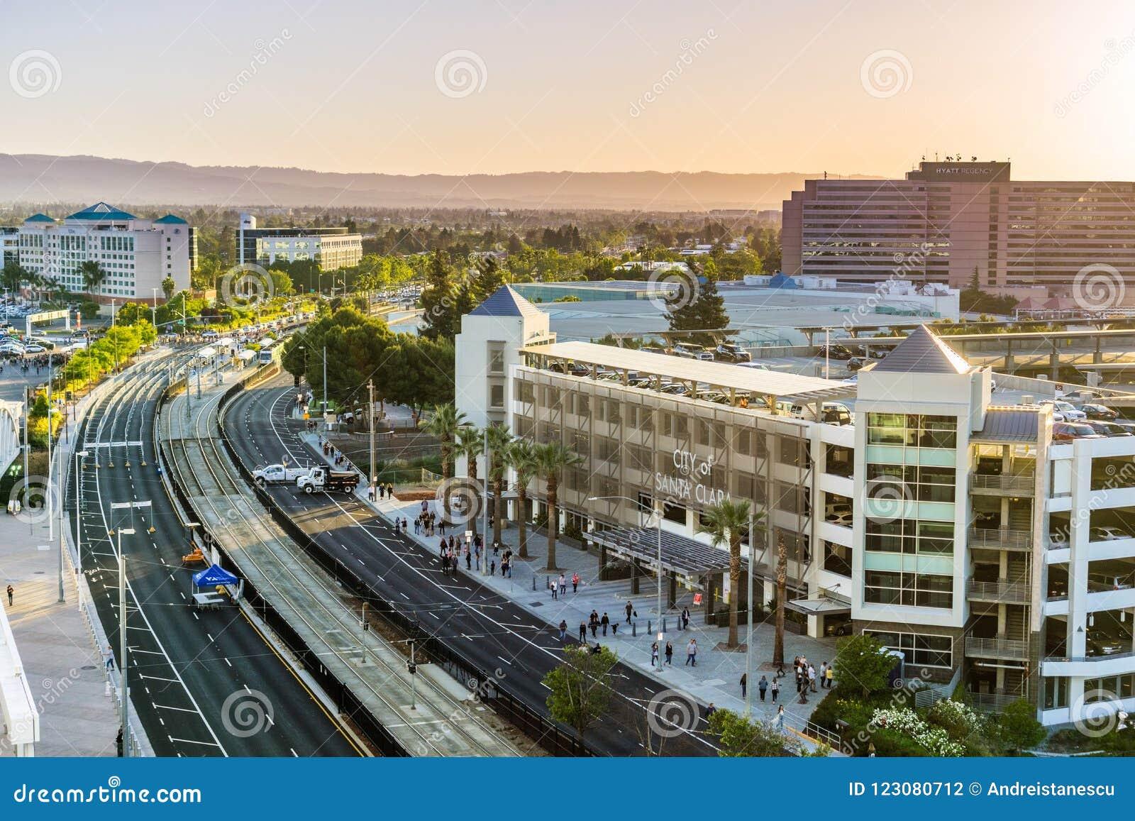 Paisagem urbana em Santa Clara, Califórnia