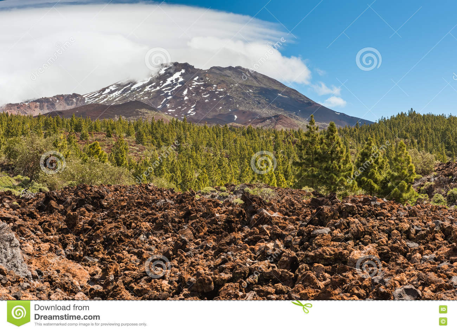 Paisagem vulcânica, Teide, Tenerife