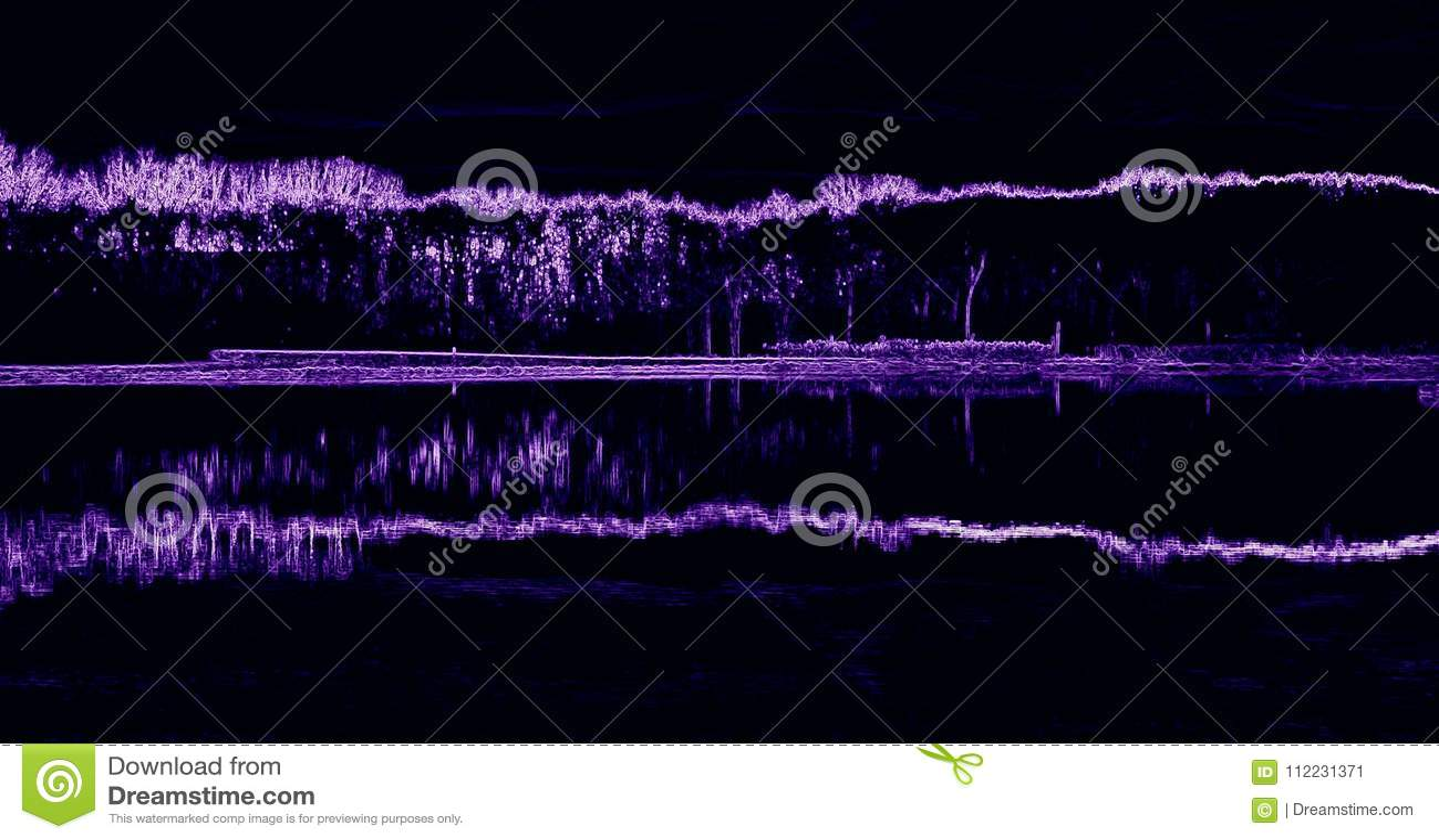 Paisaje abstracto púrpura