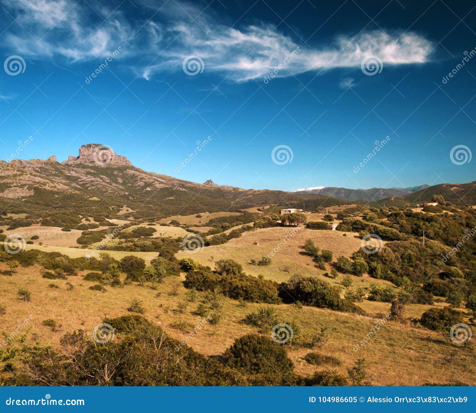 Paisaje de Arbus, Cerdeña, Italia