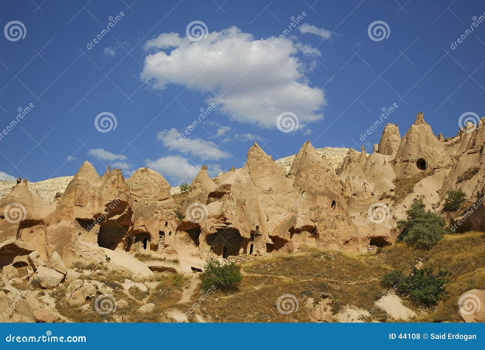 Download Paisaje de Cappadocia foto de archivo. Imagen de piedra - 44108