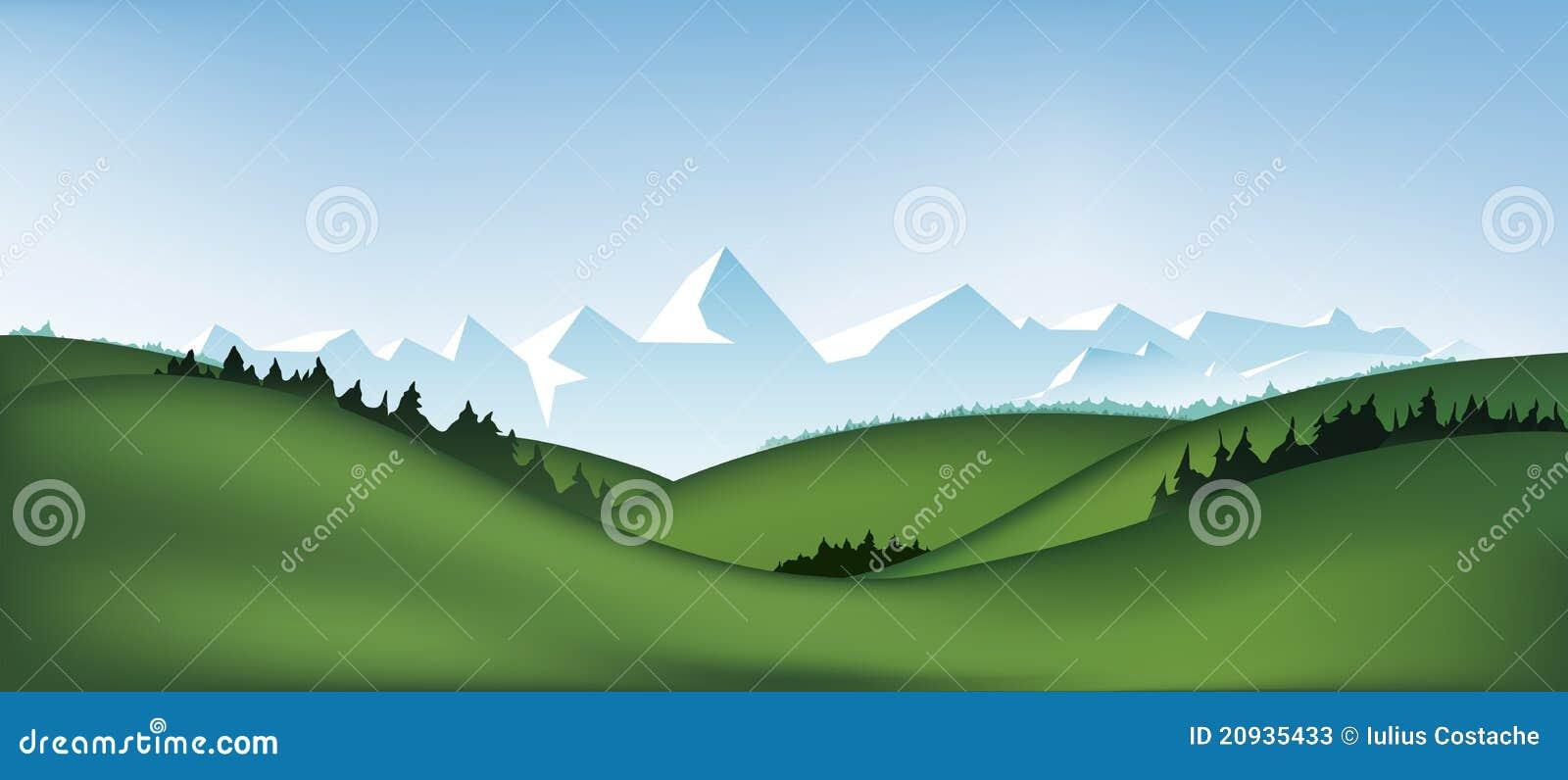 Paisaje de la montaña